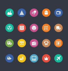 Glyphs Colored Icons 30 vector