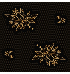golden flowers vector image