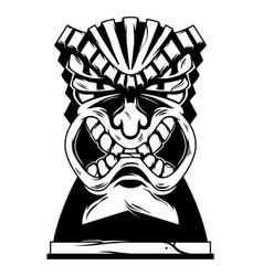 hawaii tribal angry tiki mask vector image
