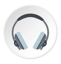 Headphone icon circle vector