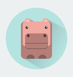 Hippo Baby Animal Icon vector image