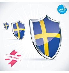 I Love Sweden Flag vector