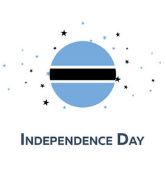 independence day of botswana patriotic banner vector image