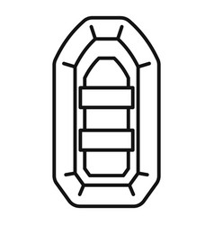 inflatable boat icon outline style vector image