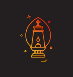 lalten lamp light icon design vector image