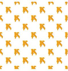 Letter k from honey pattern vector