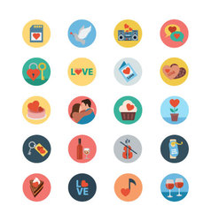 Love and Romance Flat Colored Icons 4 vector image