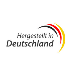 made in germany symbol with the german tricolor vector image