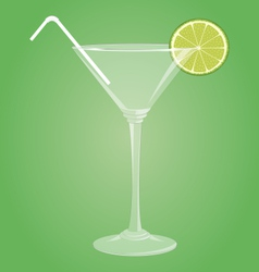 Martini glass with lime vector image