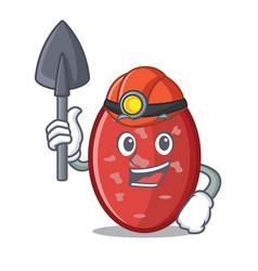 Miner salami mascot cartoon style vector