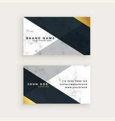 minimal style marble business card design vector image