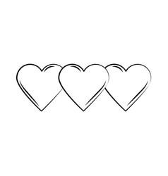 minimalist tattoo hearts love boho line art icon vector image