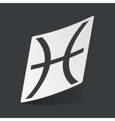 Monochrome Pisces sticker vector image