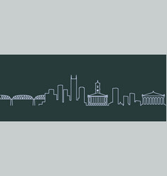 nashville single line skyline vector image