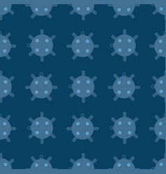 Naval mine seamless pattern vector