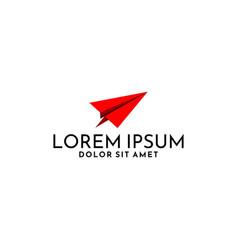 paper plane logo tempate for startup vector image