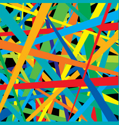 pattern colorful lines vector image