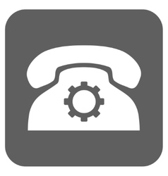 Phone Settings Flat Squared Icon vector