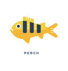 pike freshwater fish geometric flat style design vector image
