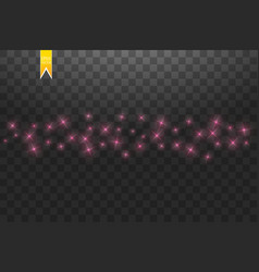 pink star dust trail sparkling particles isolated vector image