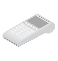 Pos terminal for payment debit or credit card vector