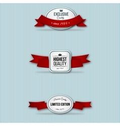red retro premium badges vector image