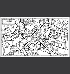 Rome italy city map in black and white color vector