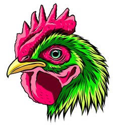 roostera handdraw and sketch in vector image