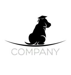 scientist dog logo vector image