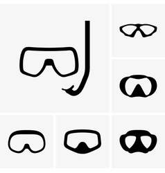 Scuba masks vector image