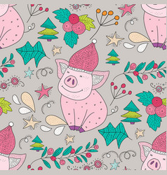 seamless pattern with holiday vector image
