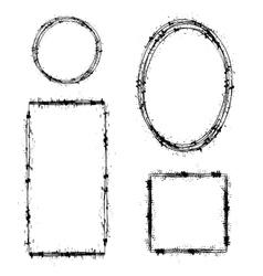 Set of Different Ink Frames Distressed Shapes vector image