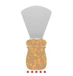 shaving brush icon flat style vector image