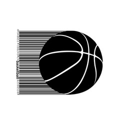 silhouette of a basketball ball vector image