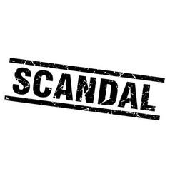 Square grunge black scandal stamp vector