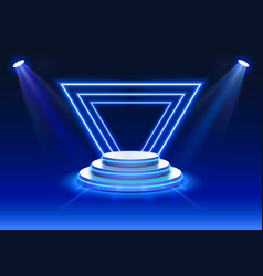 Stage podium scene with for award ceremony vector
