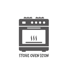 stove oven icon simple flat style vector image