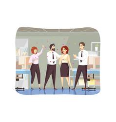 success business congratulation goal vector image