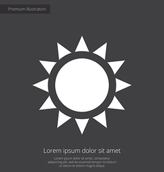 sun premium icon white on dark background vector image