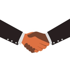 Two diversity businessmen shaking hands design vector