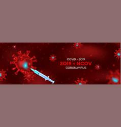 Vaccine testing vs coronavirus banner concept vector