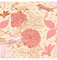 Vintage Floral Pattern Background vector image