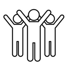 volunteer group icon outline style vector image