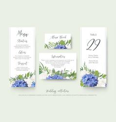 wedding floral personal menu place details vector image