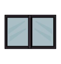 windows house glass icon vector image
