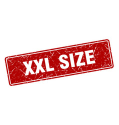 Xxl size stamp xxl size vintage red label sign vector