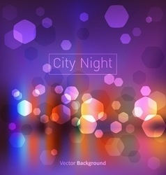 city night lights vector image