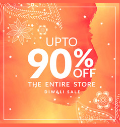 diwali sale and discount offer poster with vector image