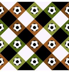 Football ball green brown chess board diamond vector