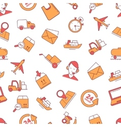 linear Icons set of logistics and delivery vector image vector image